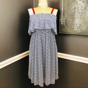 Maternity Navy and White Dress size Small